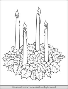 Advent Wreath Coloring Page The Catholic Kid Catholic Coloring