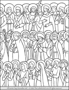 All Saints Day Coloring Page The Catholic Kid Catholic Coloring