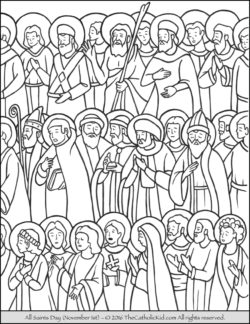 Holy days archives the catholic kid catholic coloring for All saints day coloring pages