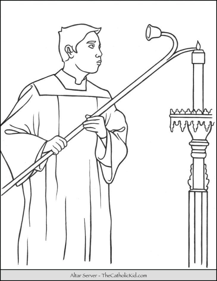 Altar Server Coloring Page