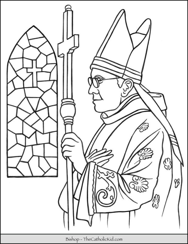 Catholic Bishop Coloring Page