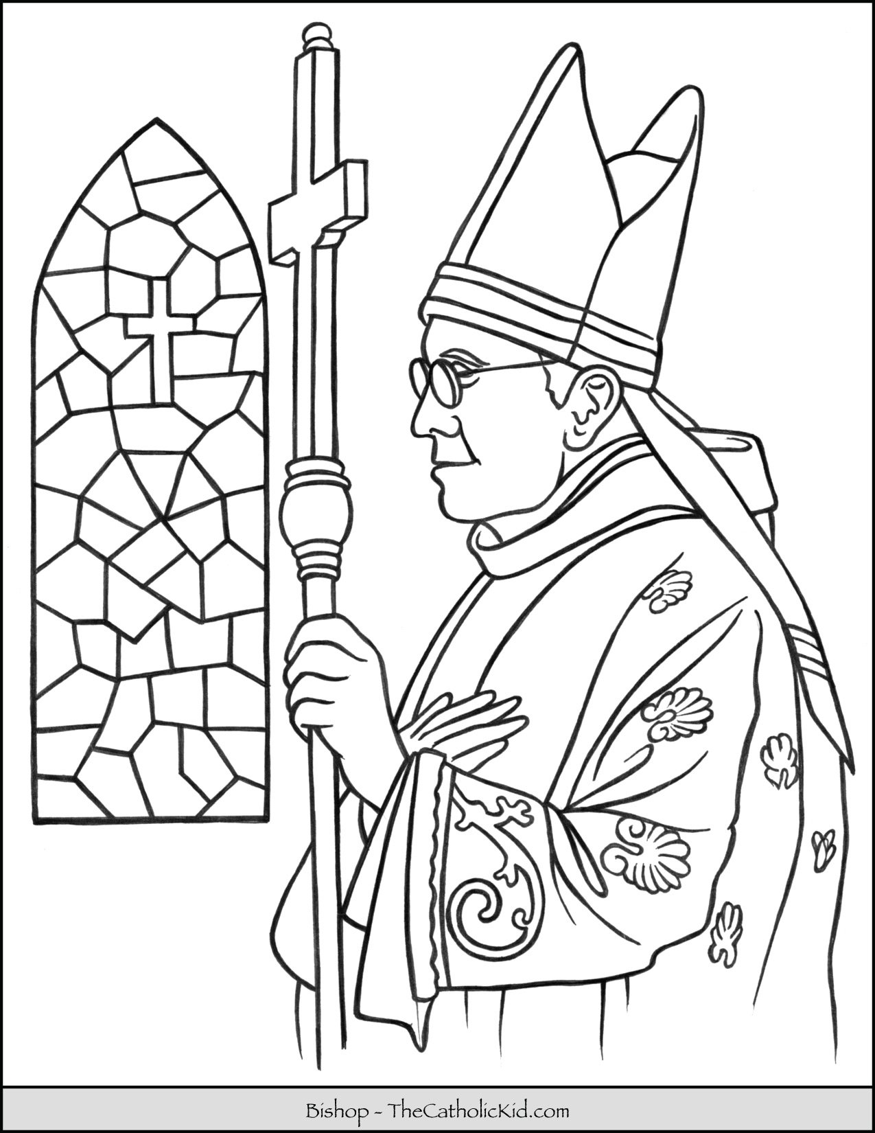 Catholic Bishop Coloring Page