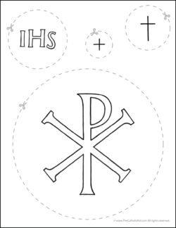 Catholic Scissor Simple Practice Cutting Worksheet Circles
