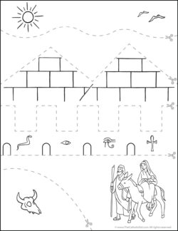 Catholic Scissor Simple Practice Cutting Worksheet Flight to Egypt