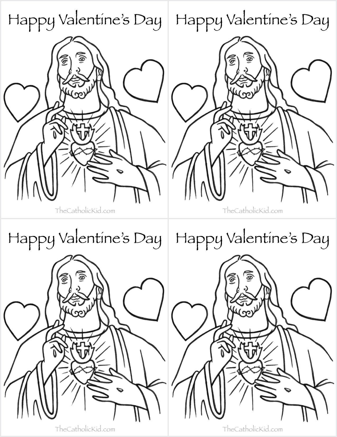 Saint valentine coloring page for Valentines days coloring pages