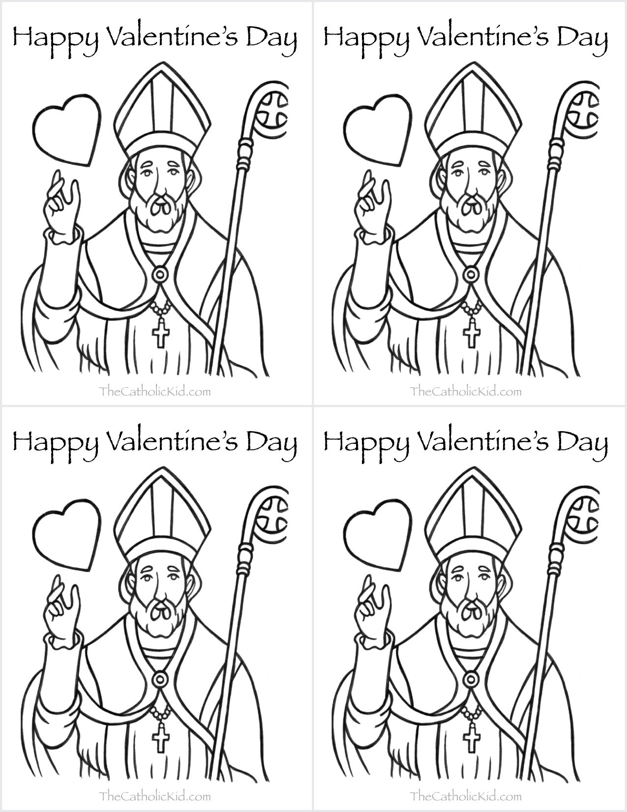 Catholic Valentines Day Cards To Color