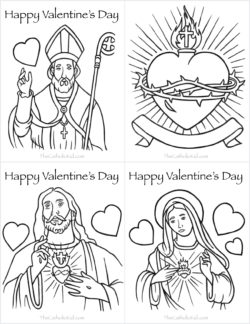 Free printable catholic coloring pages for kids the for St valentine coloring pages catholic