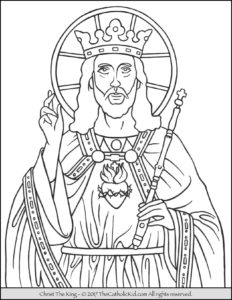 Christ The King Coloring Page The Catholic Kid Catholic Coloring - Christ-the-king-coloring-page