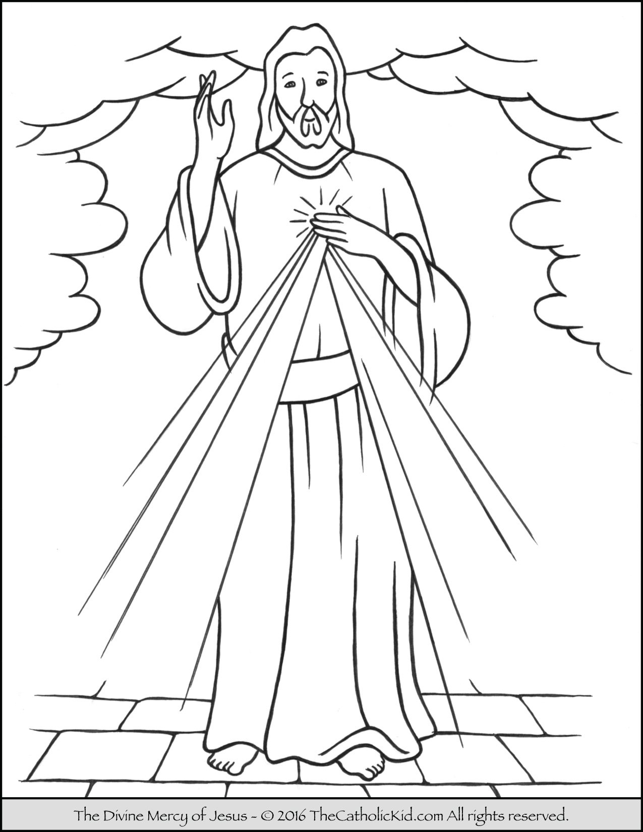 Young Mary Coloring Page