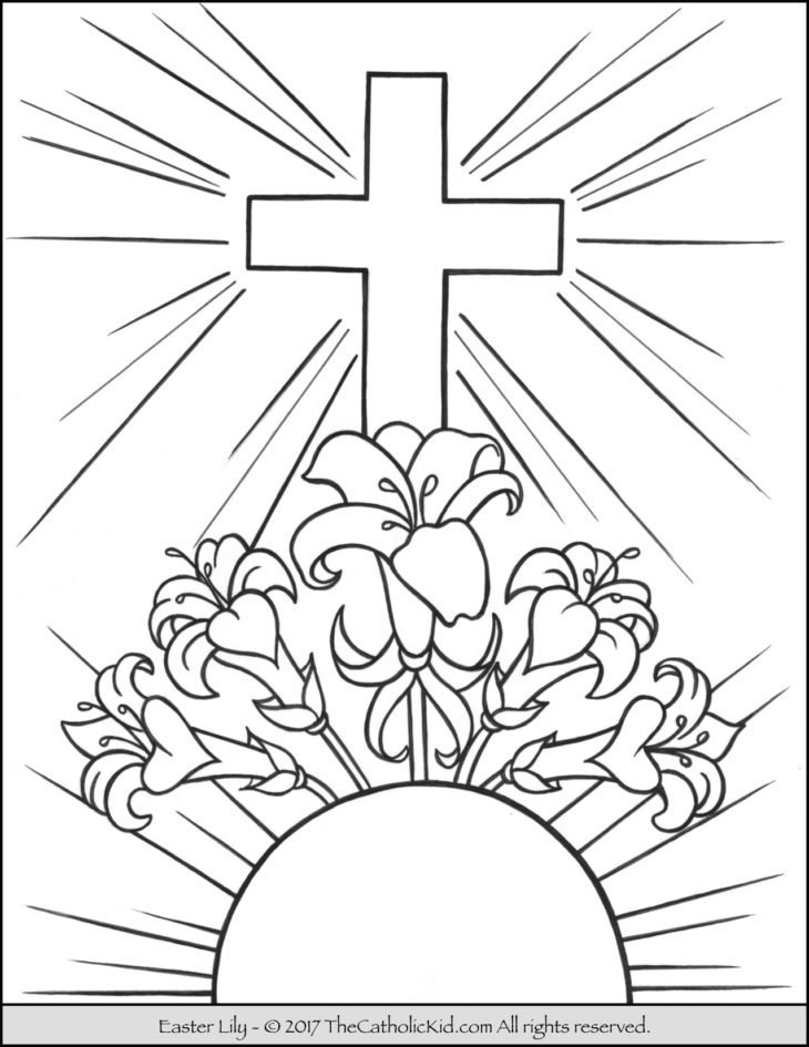 easter lily coloring page - Lily Coloring Pages