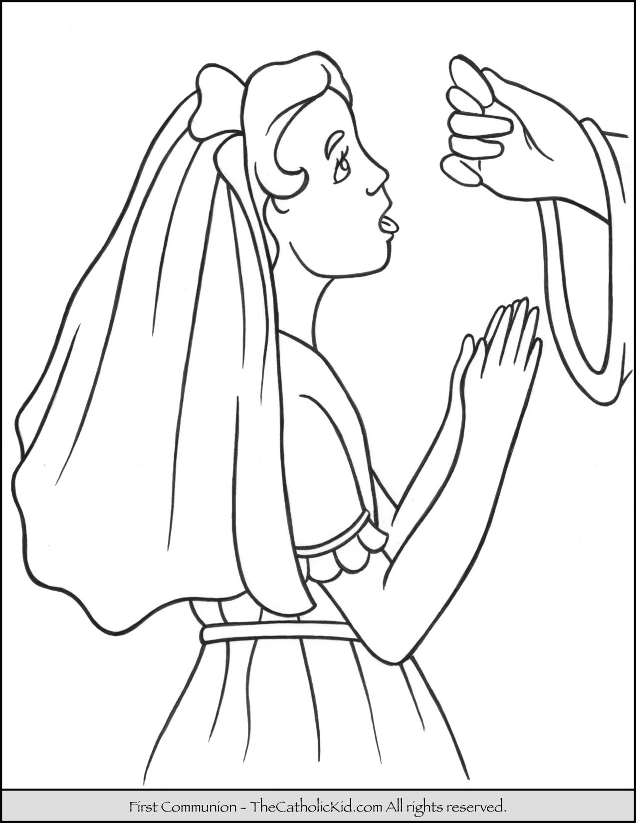 first communion girl coloring page 2 - Coloring Pages For Girl 2