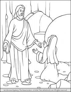 Glorious Mysteries Rosary Coloring Pages The Resurrection The