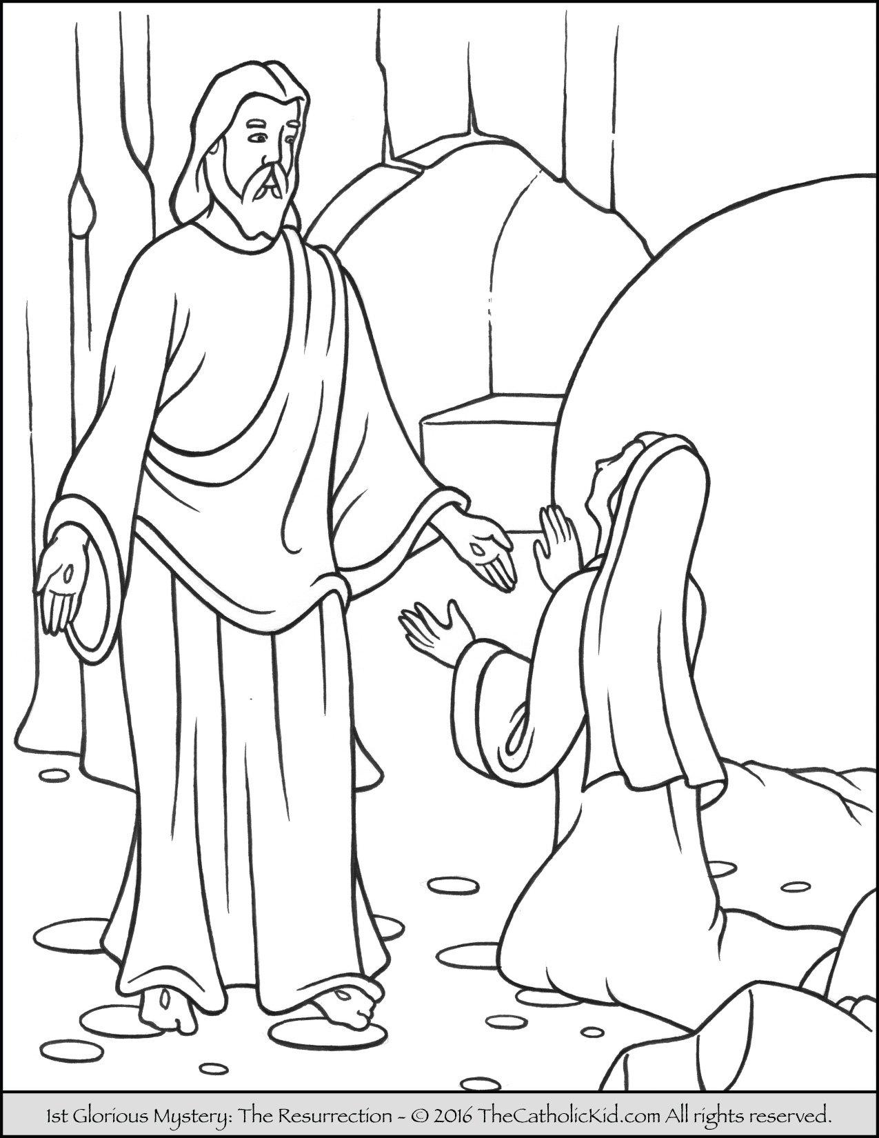 Glorious Mysteries Rosary Coloring Pages - The Catholic Kid
