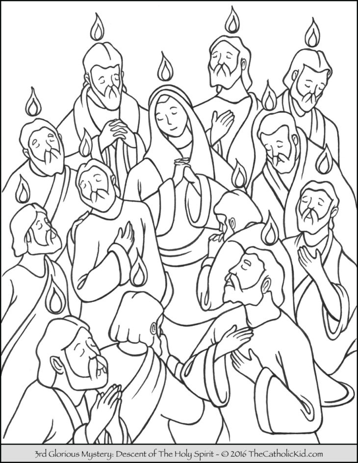 Holy spirit archives the catholic kid catholic for Pentecost coloring pages