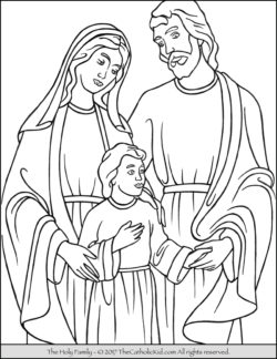 Holy Family Coloring Page