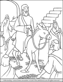 coloring page of jesus on palm sunday download