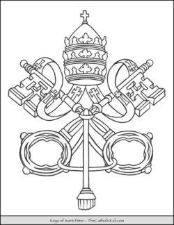 Keys of Saint Peter Coloring Page