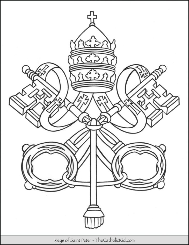 Keys of Saint Peter Coloring Page