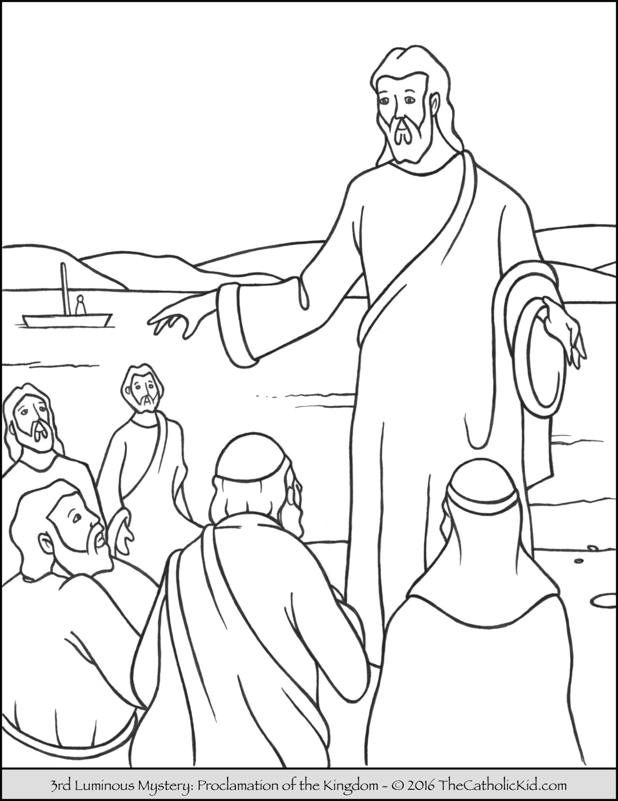 Joyful Mysteries Coloring Pages