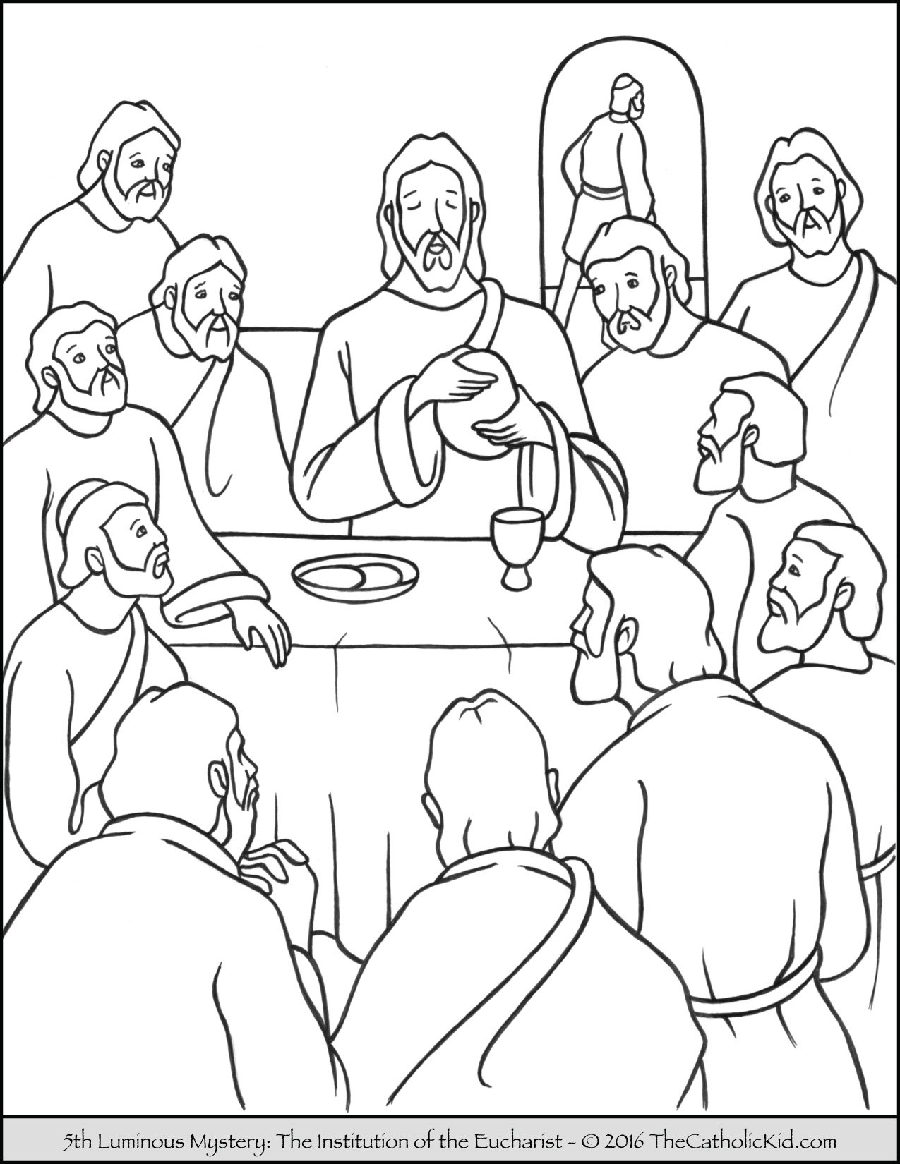 luminous mysteries rosary coloring pages the institution of the eucharist - Coloring Pages Catholic Sacraments