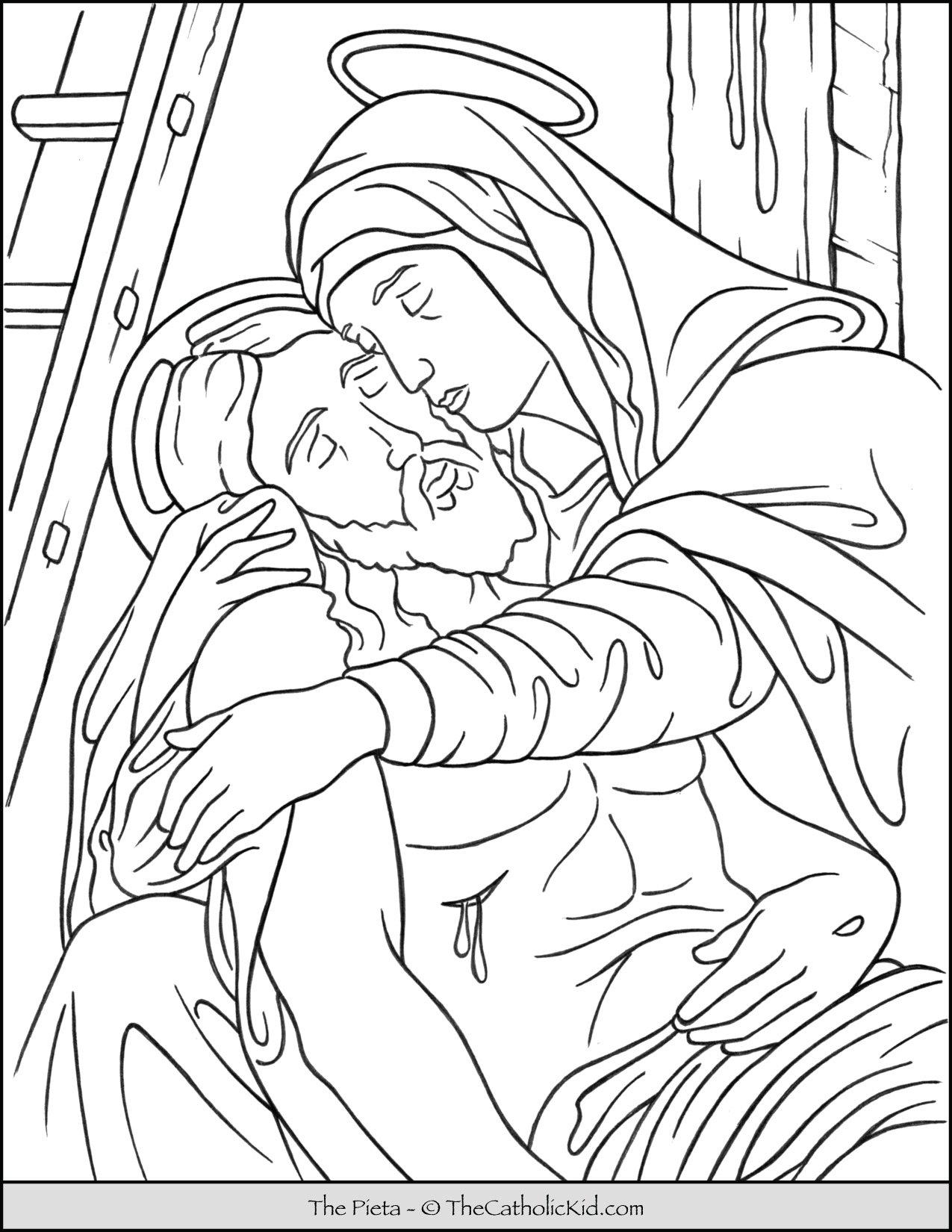 Pieta Coloring Page