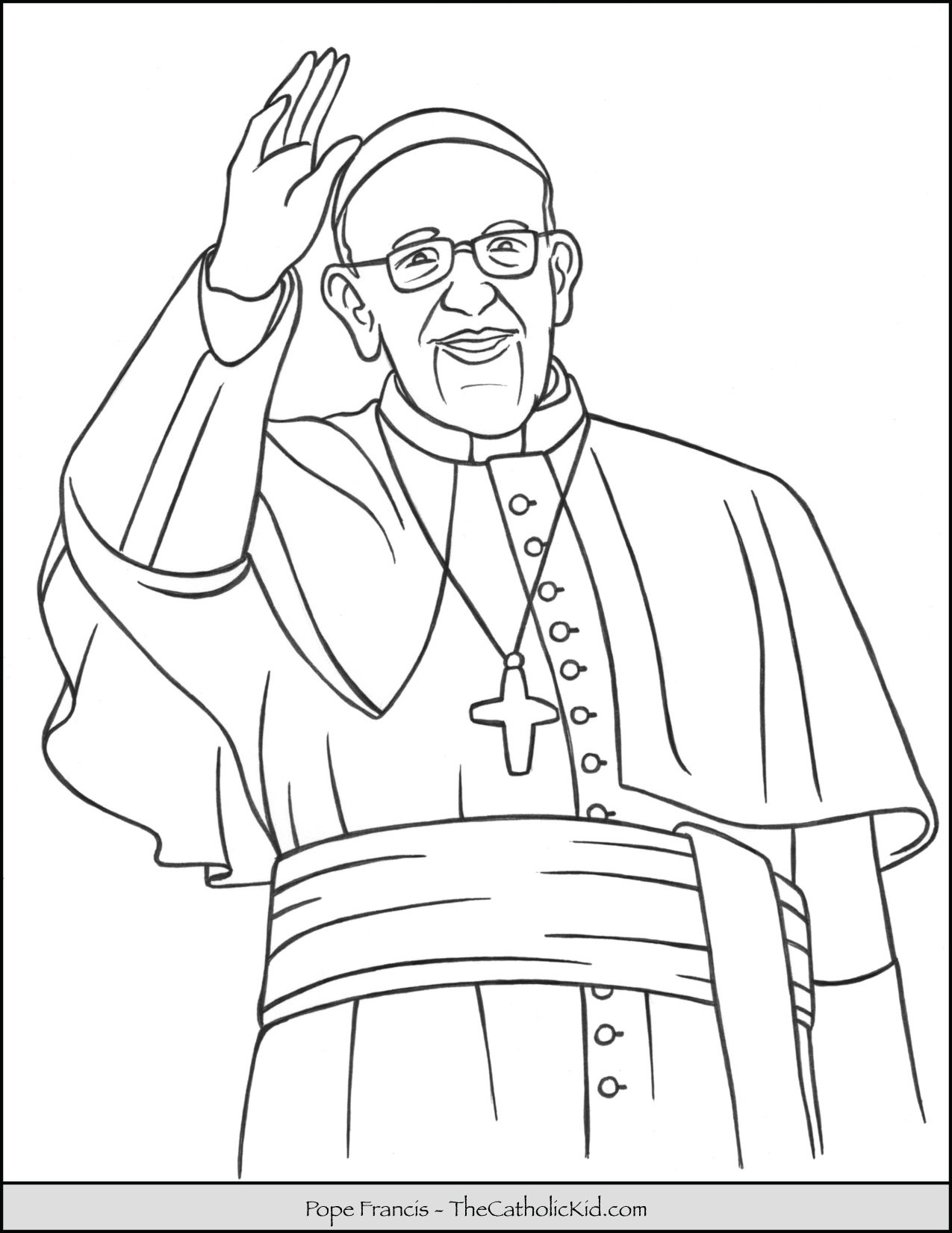 Pope Francis Coloring Page
