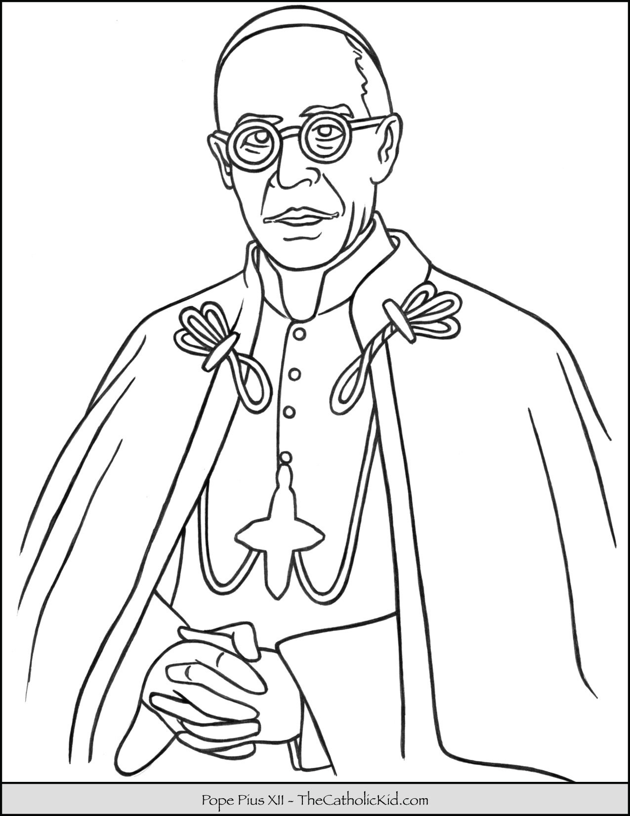 Pope Pius XII Coloring Page