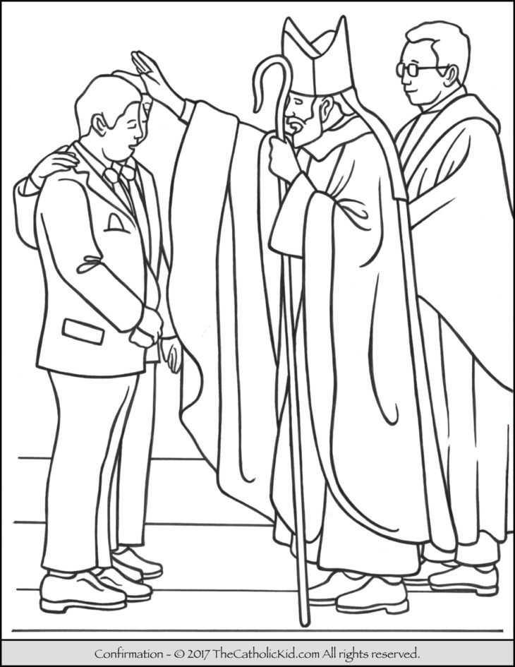 sacrament of confirmation coloring page - Coloring Pages Catholic Sacraments