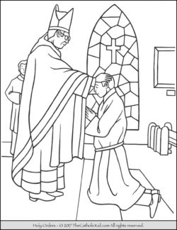 sacrament of holy orders coloring page - Coloring Pages Catholic Sacraments