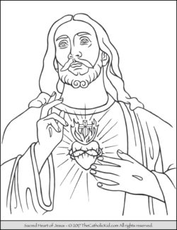 Sacred Heart of Jesus Coloring Page