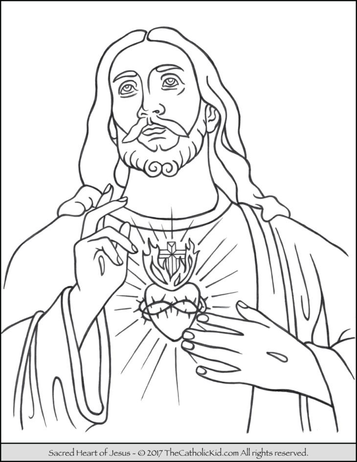 jesus coloring pages catholic church - photo#21