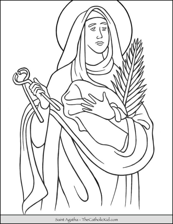 Saint Agatha Coloring Page