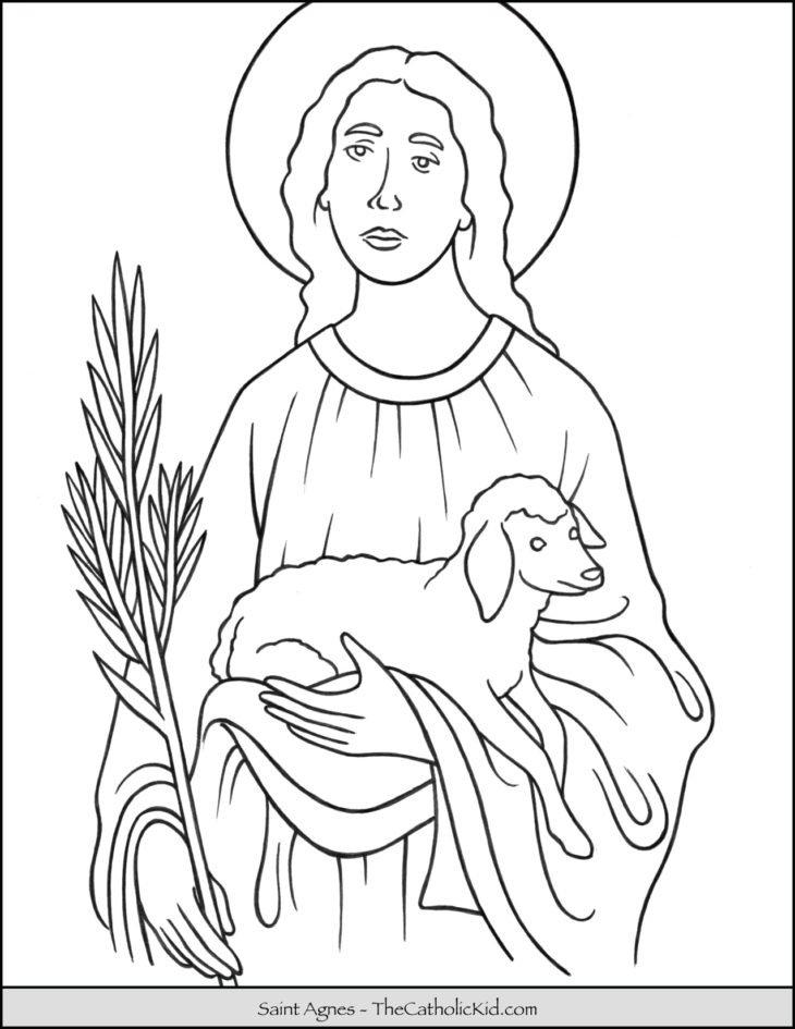 Saint Agnes Coloring Page