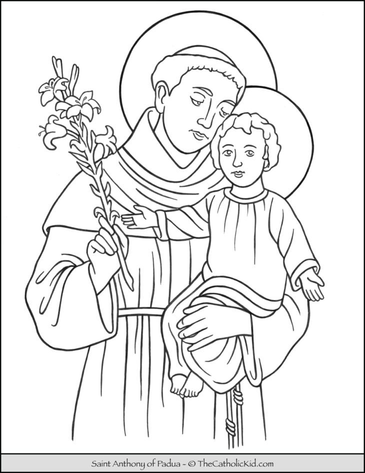 Saint Anthony of Padua Coloring Page