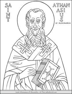 Saint Athanasius of Alexandria Coloring Page