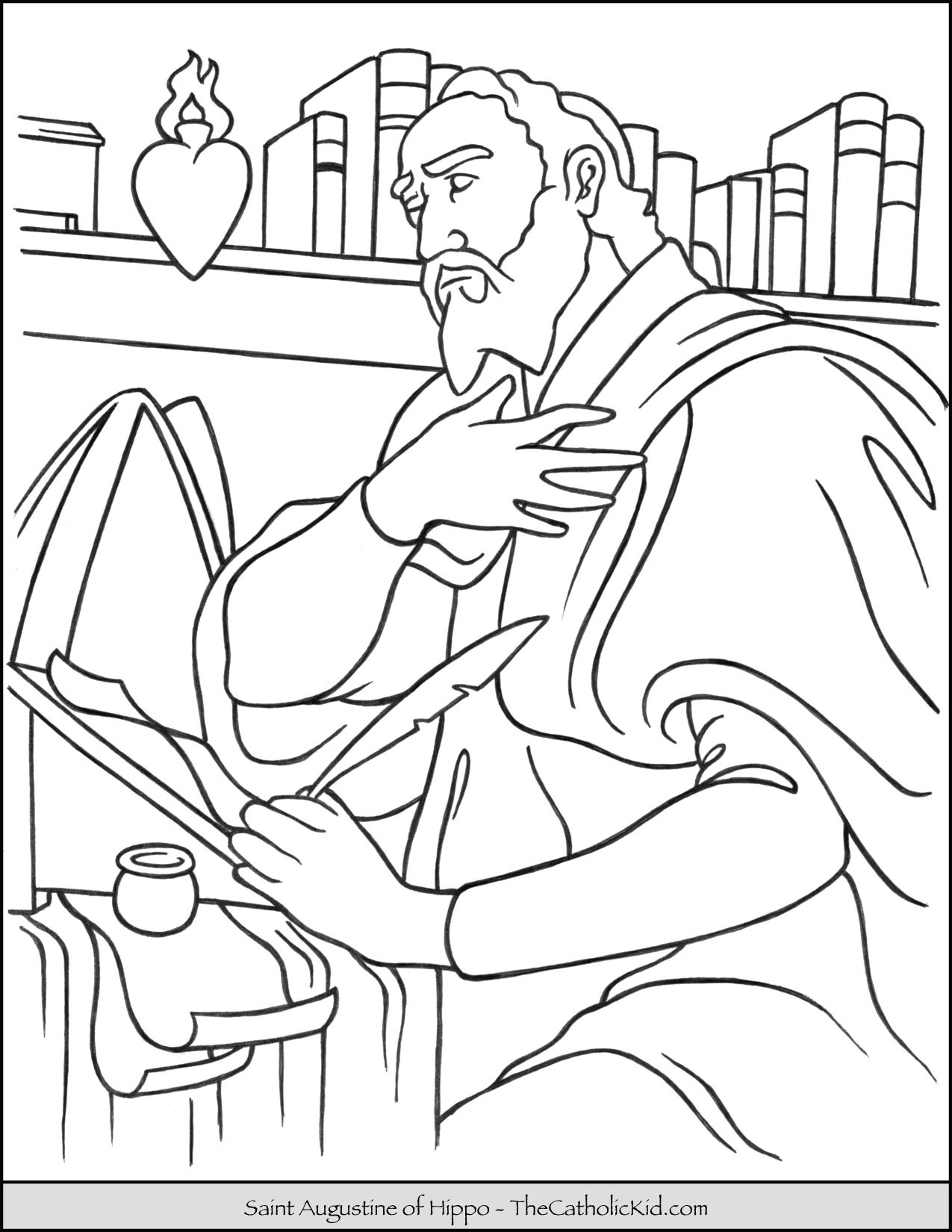 Saint Augustine Coloring Page