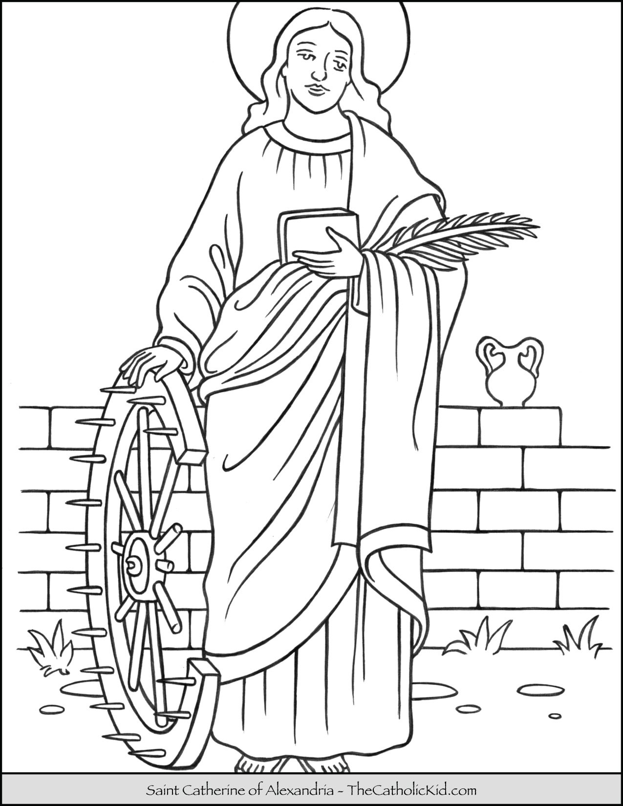 Saint Catherine of Alexandria Coloring Page