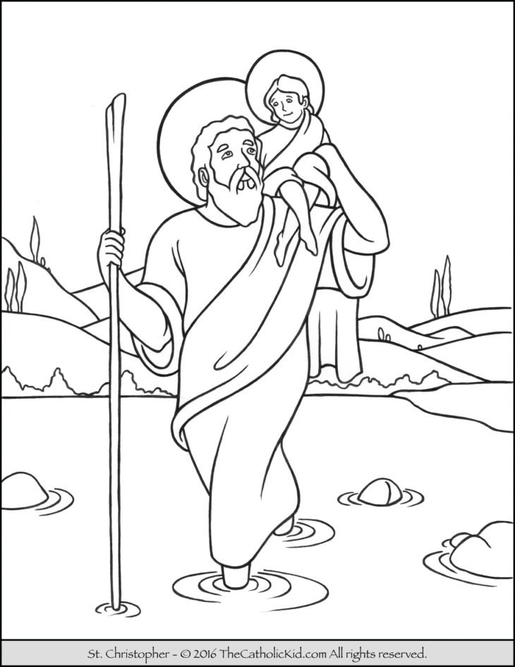 Saints Archives - The Catholic Kid - Catholic Coloring Pages and ...