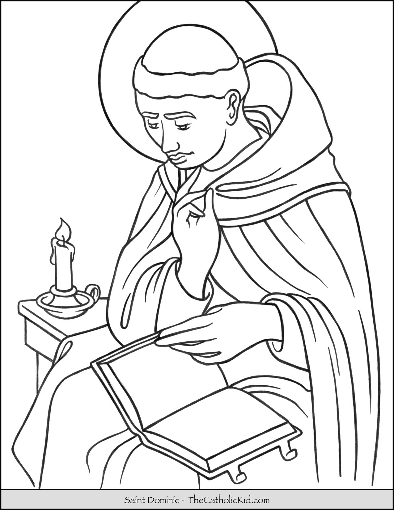 Saint Dominic Coloring Page
