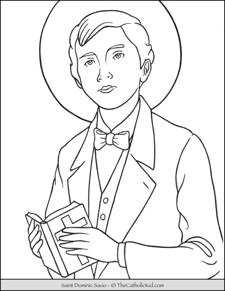 Saint Dominic Savio Coloring Page