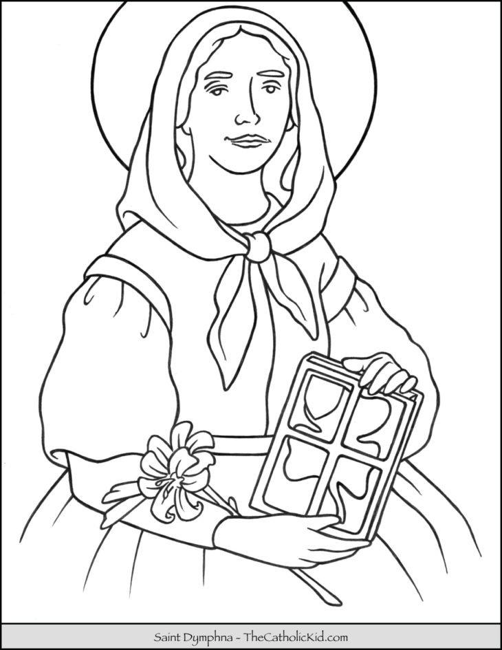 Saint Dymphna Coloring Page