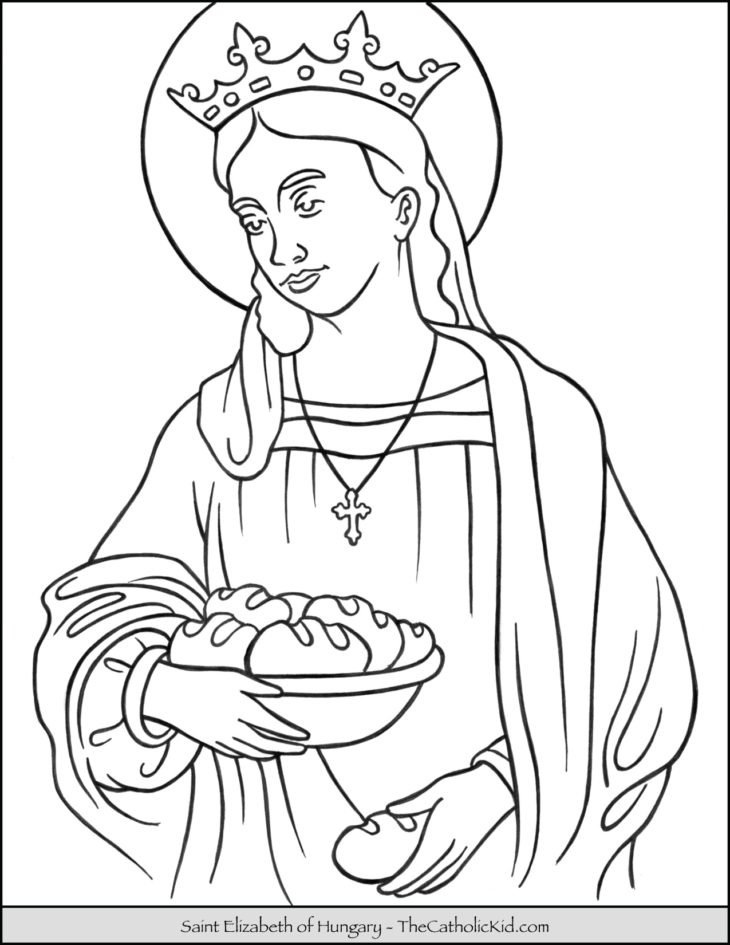 Saint Elizabeth Of Hungary Coloring Page