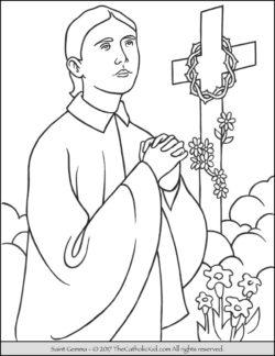 Saint Gemma Coloring Page
