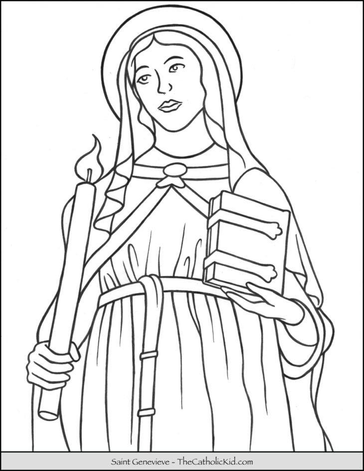 Saint Genevieve Coloring Page
