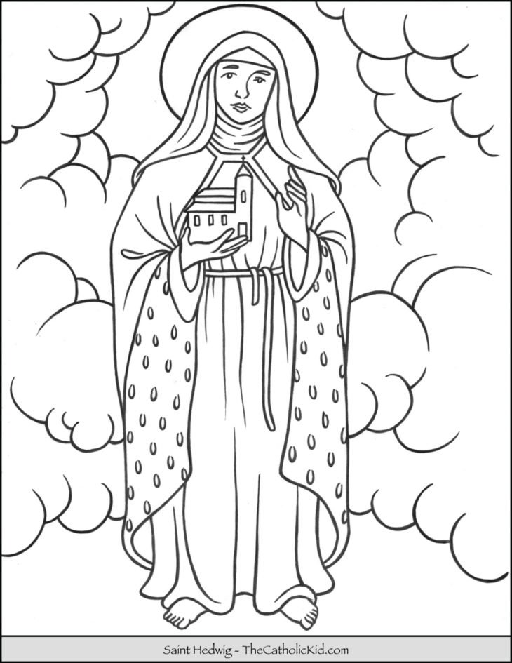 Saint Hedwig Coloring Page