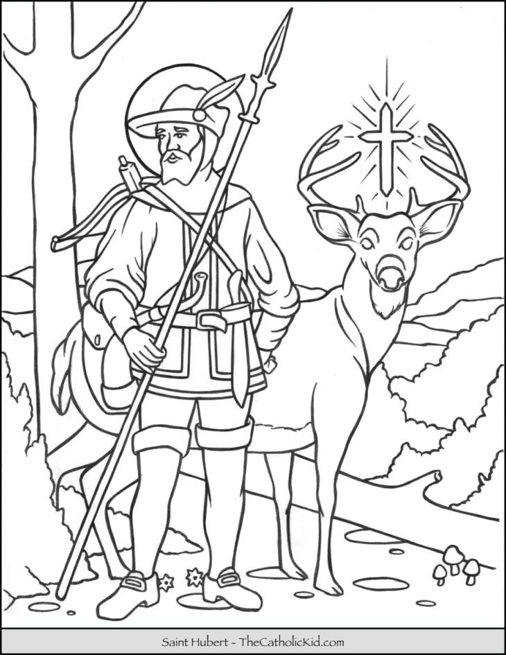 Saint Hubert Coloring Page