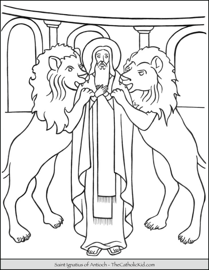 Saint Ignatius of Antioch Coloring Page