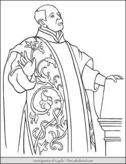 Saint Ignatius of Loyola Coloring Page