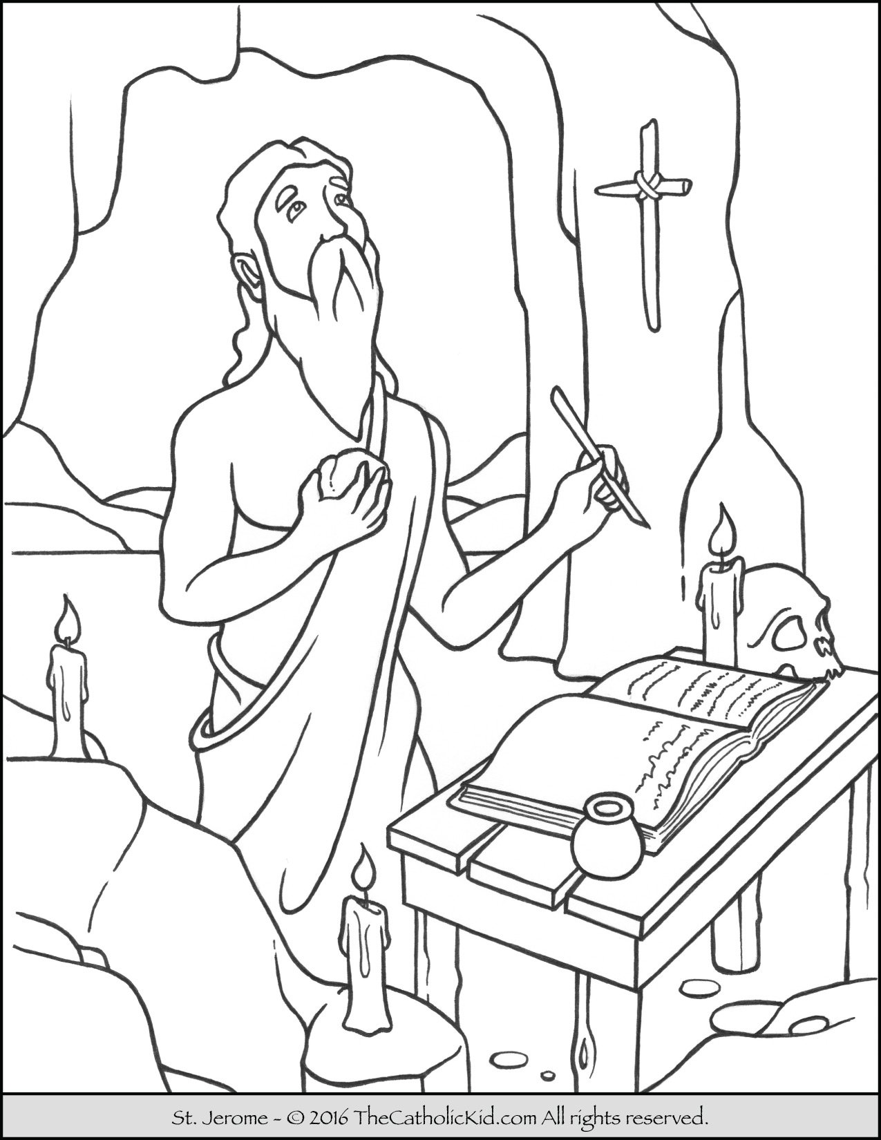 Coloring pages furniture - Saint Jerome Coloring Page