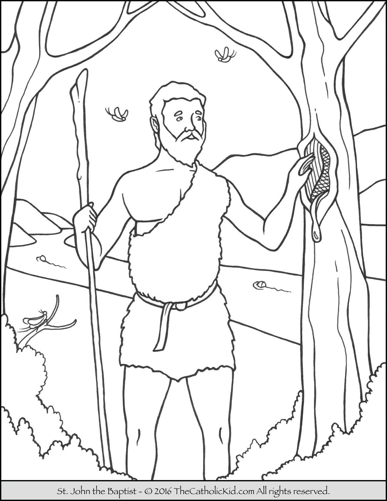 Free coloring pages john the baptist - Saint John The Baptist Coloring Page